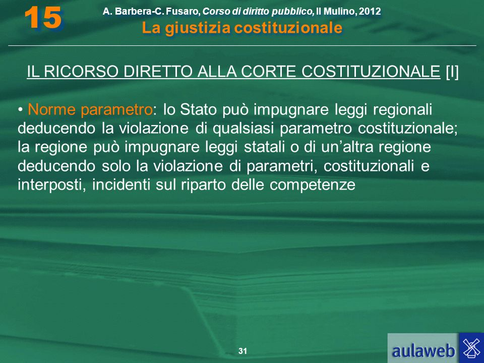 IL RICORSO DIRETTO ALLA CORTE COSTITUZIONALE [I]